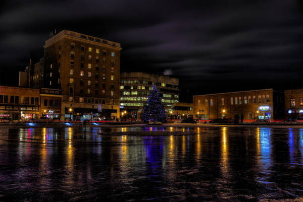 Wausau After Dark At Christmas Poster