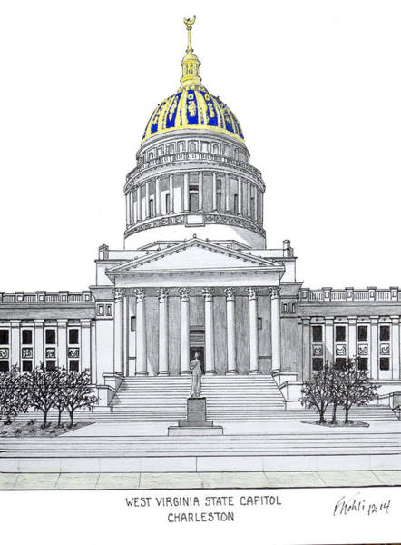 West Virginia State Capitol Poster