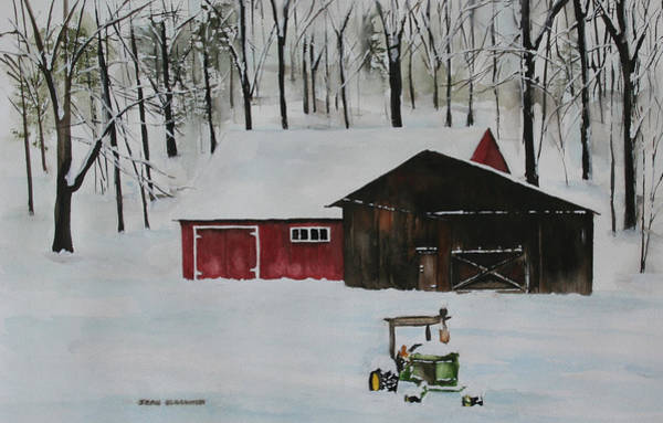 Poster featuring the painting Winter Solitude by Jean Blackmer