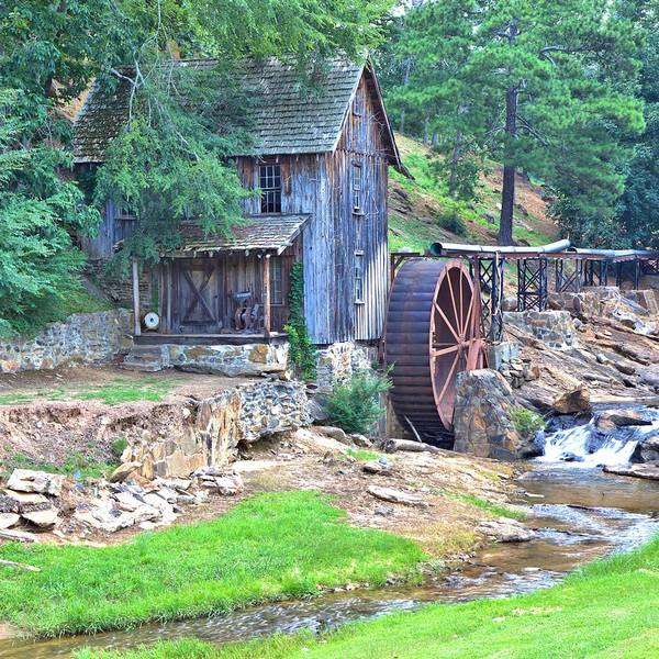 Sixes Mill On Dukes Creek - Square Poster