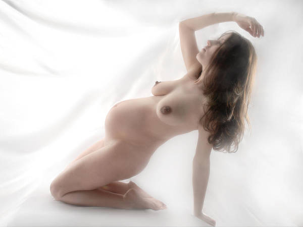 1061 Beautiful Pregnant Nude  Poster
