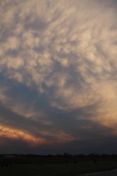 Nebraska Mammatus Sunset Poster