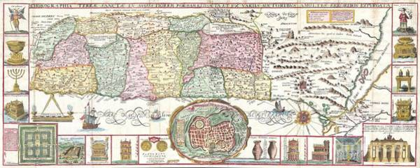 1632 Tirinus Map Of The Holy Land Poster