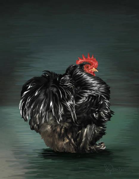 17. Black Frizzle Cochin Bantam Poster