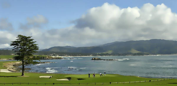 Poster featuring the photograph 18th Hole Pebble Beach by Rich Stedman