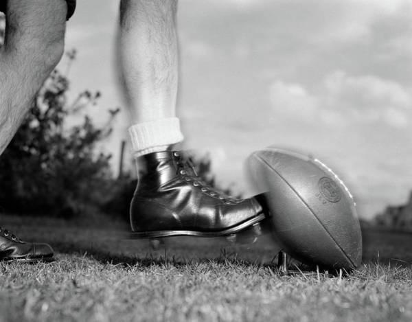 1950s 1960s Kickoff Close-up Of Foot Poster