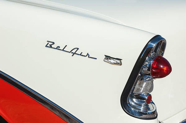 1956 Chevrolet Belair Coupe Taillight Poster
