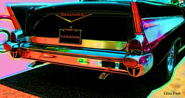 1957 Chevy Art Red Varooom Poster