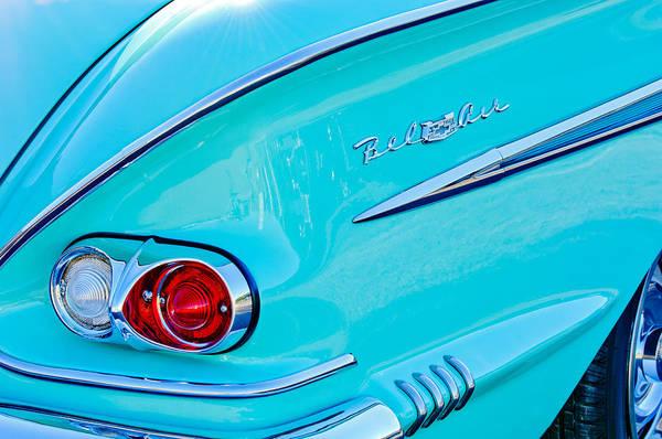 1958 Chevrolet Belair Taillight 2 Poster