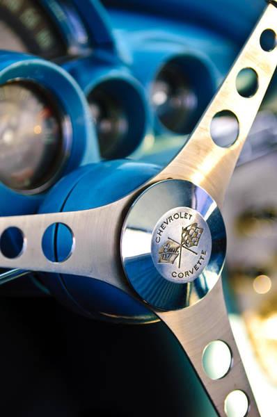1958 Chevrolet Corvette Steering Wheel Poster