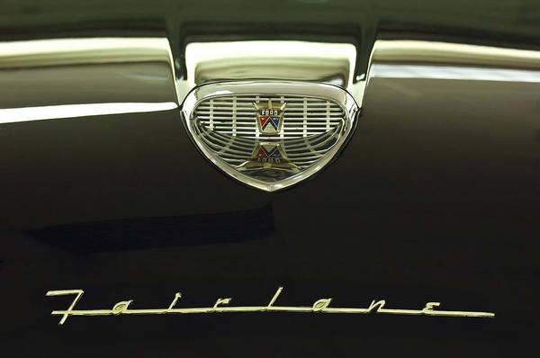 1958 Ford Fairlane 500 Victoria Hood Ornament Poster