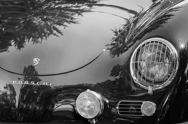 1958 Porsche 356a Sunroof Coupe Hood Emblem Poster
