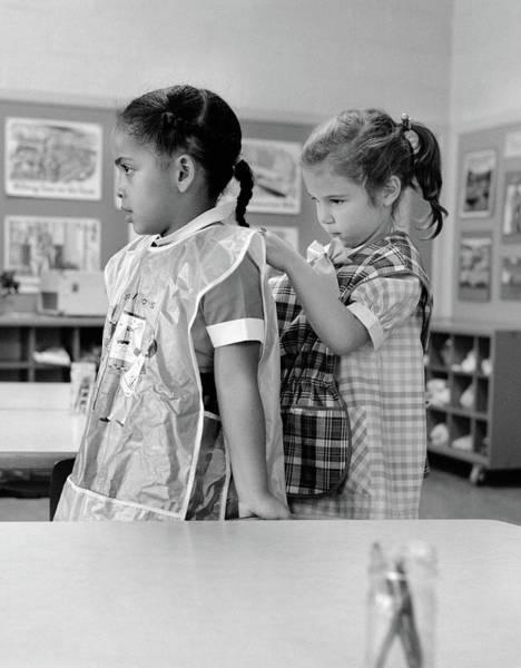 1960s Grade School Girl In Classroom Poster
