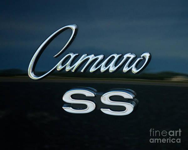 1968 Chevy Camaro Ss Logo Poster