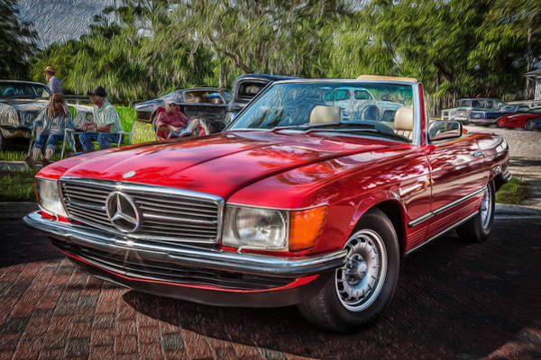 1984 Mercedes 500 Sl Painted  Poster