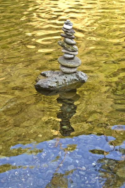 American River Rock Art Poster