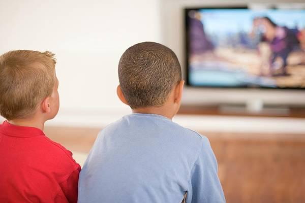 Children Watching Television Poster