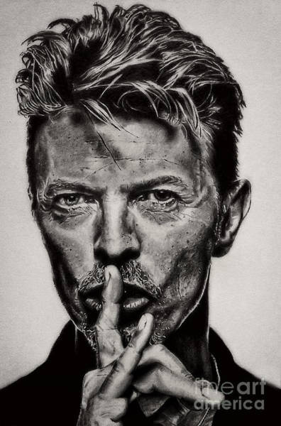 David Bowie - Pencil Abstract Poster