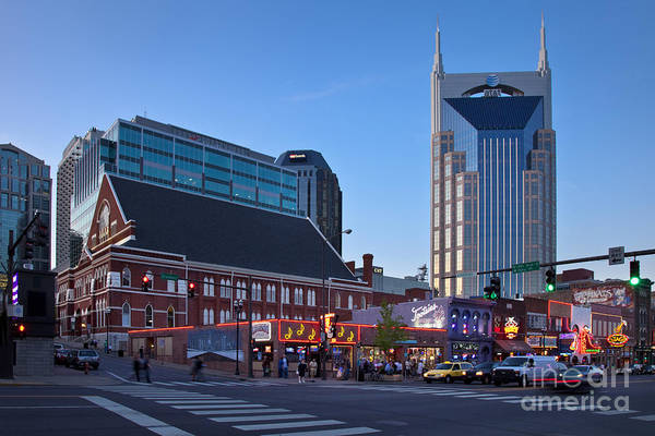 Poster featuring the photograph Downtown Nashville by Brian Jannsen
