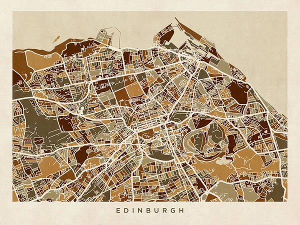 Edinburgh Street Map Poster