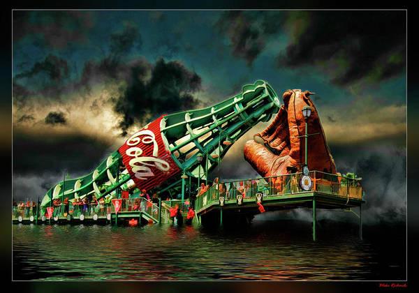 Floating Coke Bottle Poster