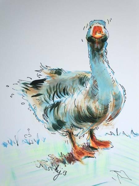 Goose Drawing Poster