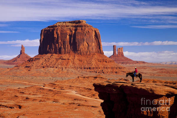 Poster featuring the photograph John Ford Point Monument Valley by Brian Jannsen