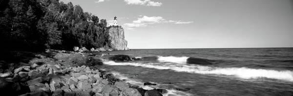Lighthouse On A Cliff, Split Rock Poster