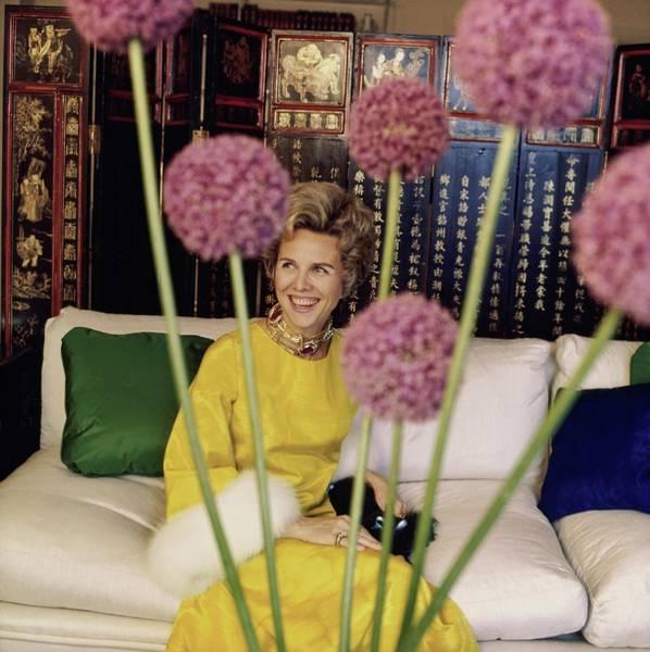 Marquesa Carol De Portago At Home Poster