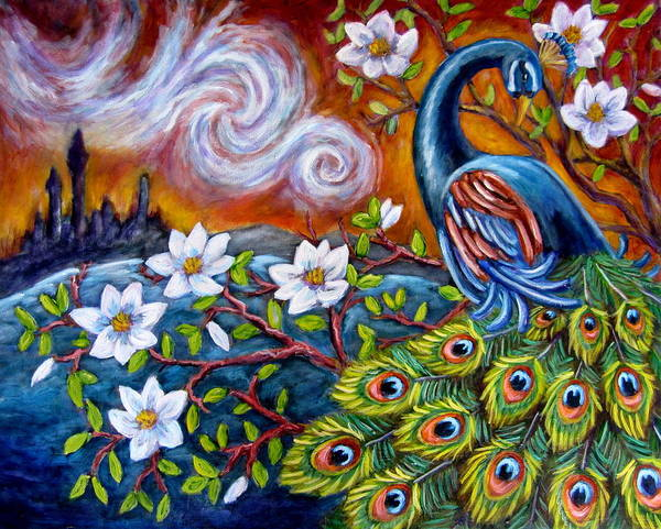 Mystic Peacock Poster