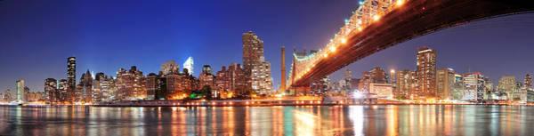 Queensboro Bridge And Manhattan Poster