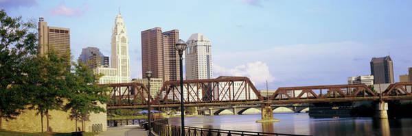 Railway Bridge Across A River Poster