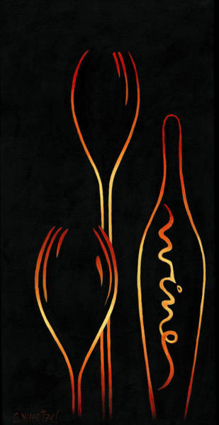 Poster featuring the painting Simply Wine by Sandi Whetzel
