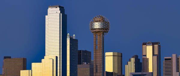 Skyscrapers In A City, Reunion Tower Poster