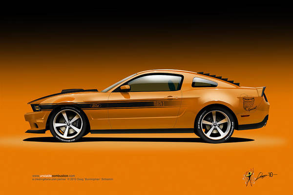 2011 Ford Twister Mustang Poster