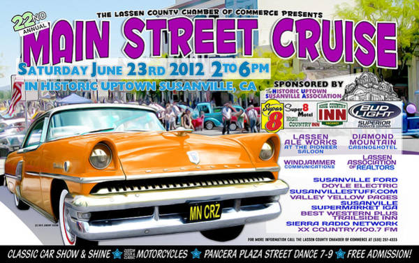 2012 Main Street Cruise Poster Poster