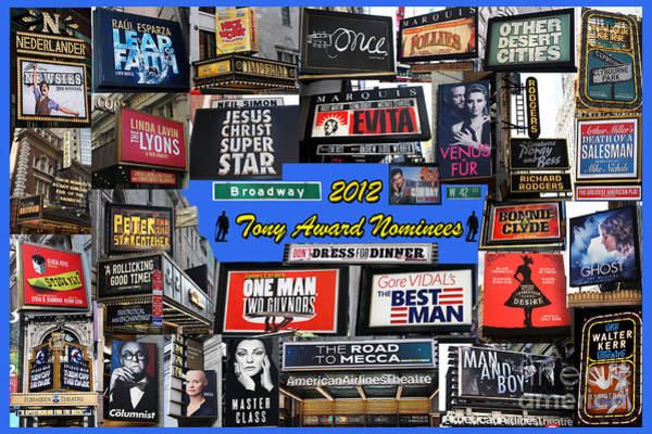 2012 Tony Award Nominees Collage Poster