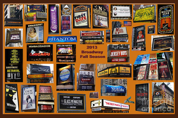 2013 Broadway Fall Collage Poster