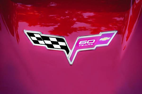 2013 Corvette 60th Anniversary Hood Logo Painted Poster