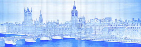 Arch Bridge Across A River, Westminster Poster