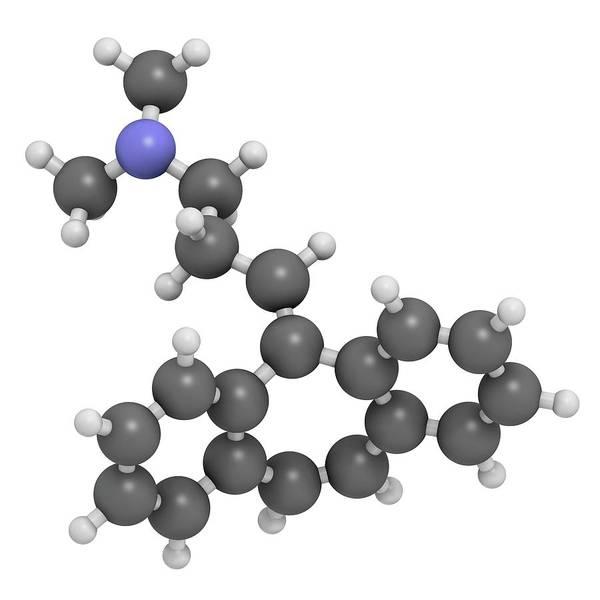 Cyclobenzaprine Molecule Poster