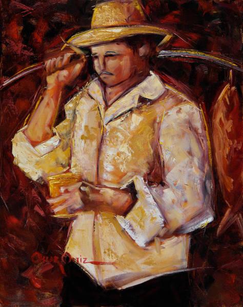 Poster featuring the painting Jibaro De La Costa by Oscar Ortiz