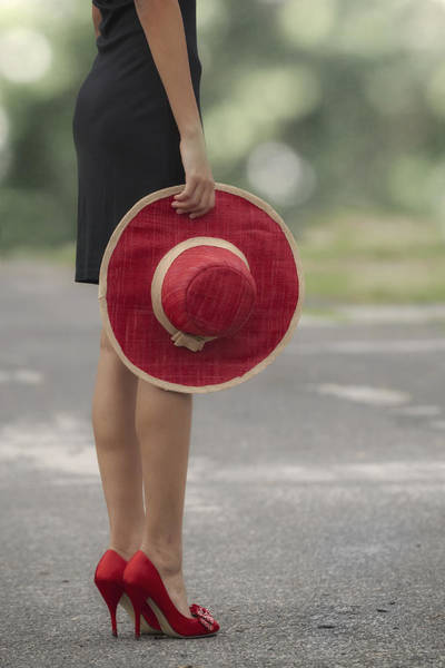 Red Sun Hat Poster