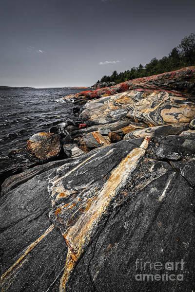 Rocks At Georgian Bay Poster