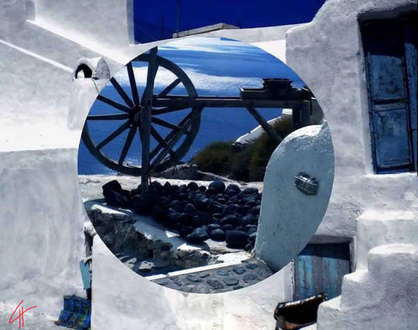 Poster featuring the photograph Santorini Island Greece by Colette V Hera  Guggenheim