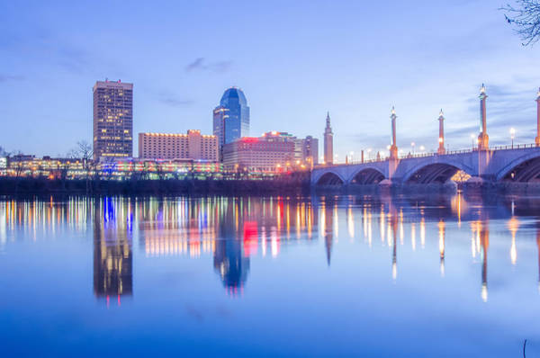 Springfield Massachusetts City Skyline Early Morning Poster
