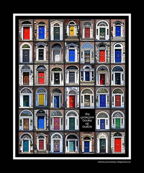 The Georgian Doors Of Dublin Poster