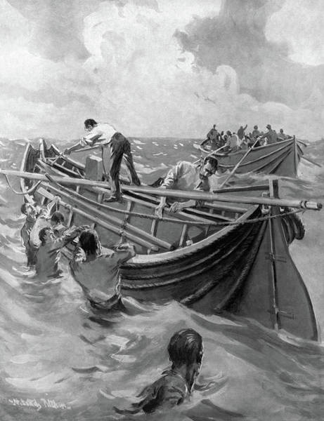 Titanic Lifeboats, 1912 Poster