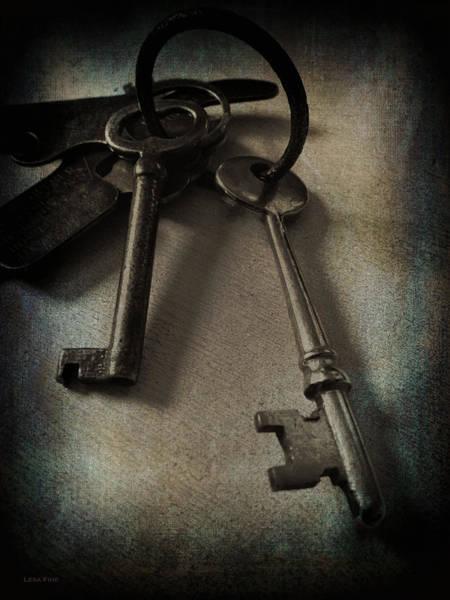 Vintage Keys Vignette Poster