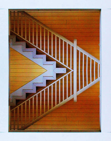 Distorted Stairs Poster